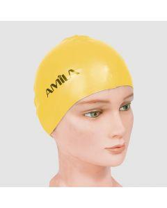 Σκουφάκια πισίνας απλά μονόχρωμα, Κίτρινο - 47015