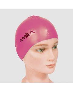 Σκουφάκια πισίνας απλά μονόχρωμα, Ροζ - 47016