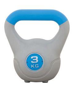 Kettlebell με επένδυση βινυλίου 3kg (Μπλε) - 84694
