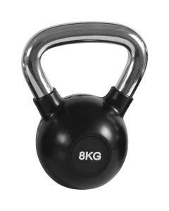 Kettlebell με Επένδυση Λάστιχου & Λαβή Χρωμίου 8kg - 90455