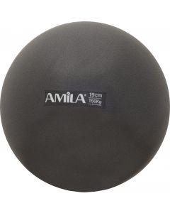 Μπάλα Pilates 19cm, Μαύρη, bulk - 95805