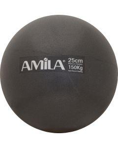 Μπάλα Pilates, 25cm, Μαύρη, bulk - 95819