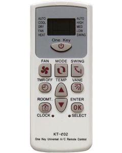 Universal τηλεχειριστήριο για κλιματιστικά με οθόνη LCD - KT-e02