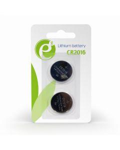ENERGENIE BUTTON CELL CR2016 2-PACK EG-BA-CR2016-01