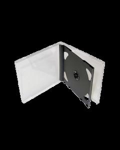 CD BOX FOR 2 CD JEWEL CASE BLACK TRAY BOX9023