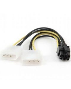 CABLEXPERT INTERNAL POWER ADAPTER CABLE FOR PCI EXPRESS, 6pin TO MOLEX x 2 pcs CC-PSU-6