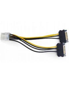 CABLEXPERT INTERNAL POWER ADAPTER CABLE FOR PCI EXPRESS, 8pin TO SATA x 2 pcs CC-PSU-83