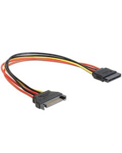 CABLEXPERT SATA POWER EXTENSION CABLE 0,3M CC-SATAMF-01