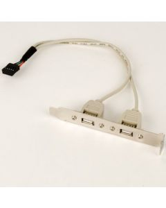 CABLEXPERT DUAL USB RECEPTACLES ON BRACKET CCUSBRECEPTACLE