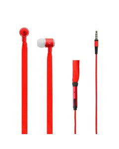 LAMTECH SHOELACE EARPHONES WITH MIC 3,5MM JACK RED LAM020335