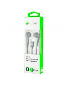 LAMTECH TYPE-C MOBILE EARPHONES WITH MICROPHONE BLACK LAM020946