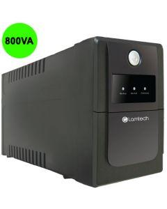 LAMTECH UPS WITH AVR 800V,CPU 12V9AH 2 SCHUKO SOCKET LAM041300