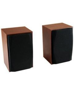 MEDIATECH WOOD-X STEREO SPEAKERS 10W RMS USB POWERED WOODEN CASES MT3151