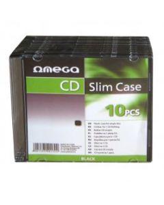 OMEGA SLIM CASE BLACK 10PCS OM40172