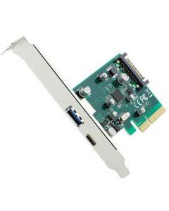 GEMBIRD 2-PORT USB 3.1 PCI-EXPRESS ADD-ON CARD (TYPE-A + TYPE-C), WITH EXTRA LOW PROFILE BRACKET PEX-U31-01