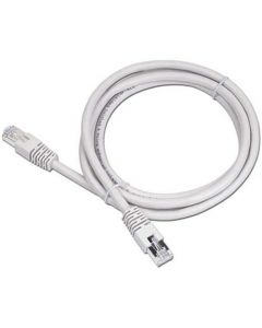 CABLEXPERT CAT5 UTP CABLE PATCH CORD MOLDED STRAIN RELIEF 50u PLUGS GREY 1M PP12-1M