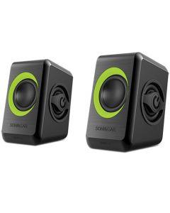 SONIC GEARS USB POWERED QUAD BASS SPEAKERS 2,0 BLACK LIME GREEN QUATRO2BLG