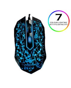 ALCATROZ 4-CLICK GAMING MOUSE 2400CPI CLASSIC GALAXY XCRAFTCLG