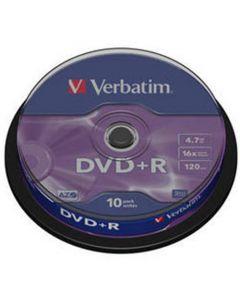 VERBATIM DVD+R 10 TUB 16X 4.7GB VER43498