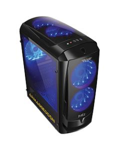 ARMAGGEDDON GAMING PC CASE M1Z BLACK 2 FAN M1ZB