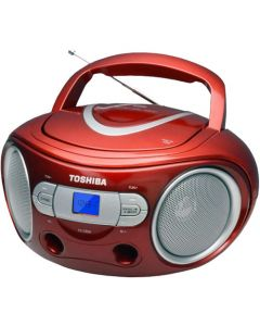 TOSHIBA AUDIO PORTABLE CD BOOMBOX RED TY-CRS9-RED
