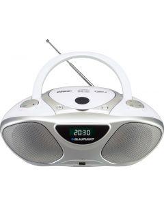 Boombox Clock FM PLL CD/MP3/USB/AUX,  2 Watt RMS. 40 σταθμοι αποθηκευση Δουλευει με μπαταριες BB14BK Blaupunkt