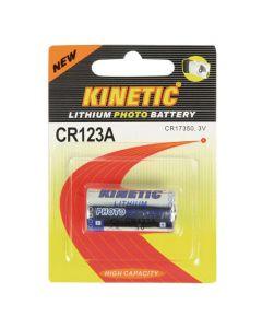 CR123A Kinetic Lithium Battery 3 V 1-Blister 016-5281