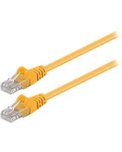 68610 CAT 5e U/UTP PATCH CABLE 0.25m YELLOW 055-0999