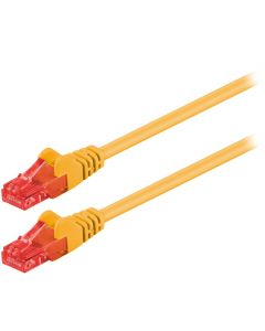 95249 CAT 6 U/UTP PATCH CABLE CCA 0.25m YELLOW 055-1014