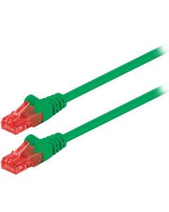 95251 CAT 6 U/UTP PATCH CABLE CCA 0.25m GREEN 055-1016