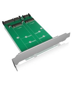 ICY BOX IB-CVB512-S Converter-board 2x SATA to 2x M.2 SATA 146-0227