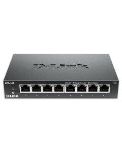 D-LINK DES-108 8-Port Fast Ethernet Unmanaged Desktop Switch 215-0138