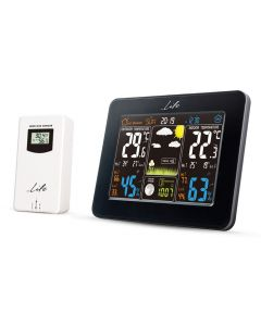 LIFE WES-300 Weather station with adaptor & wireless outdoor sensor,clock& alarm 221-0060