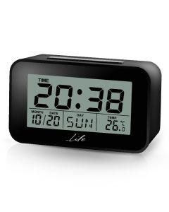 LIFE ACL-201 Alarm clock with Thermometer black 221-0110