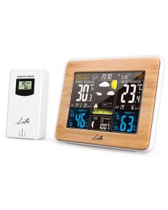 LIFE Rainforest Bamboo Edition Weather station with adaptor & wireless outdoor s 221-0119