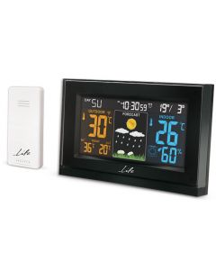 LIFE Tundra Curved Weather station with adaptor & wireless outdoor sensor,clock& 221-0120