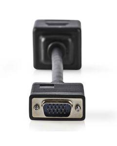 NEDIS CCGP59120BK02 VGA Cable, VGA Male - 2x VGA Female, 0.2 m, Black 233-0049
