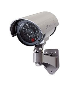 NEDIS DUMCB40GY Dummy Security Camera, Bullet, IP44, Grey 233-0051