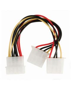 NEDIS CCGP74020VA015 Internal Power Cable, Molex Male - 2x Molex Female, 0.15m 233-0104