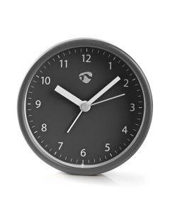NEDIS CLDK006GY Analogue Desk Alarm Clock, Grey 233-0208