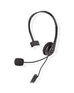 NEDIS CHSTRJ100BK PC Headset, On-Ear, RJ9 Connector, 2.2m, Black 233-0255