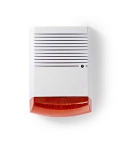 NEDIS DUMSS20WT Dummy Security Siren IP44 | White/Orange 233-0366