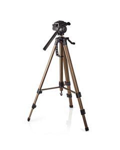 NEDIS TPOD2300BZ Tripod Pan & Tilt Max 3.5 kg 161 cm  Black/Silver 233-0580