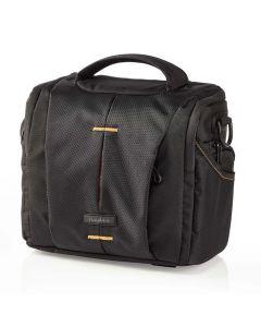 NEDIS CBAG210BK Camera Shoulder Bag 220 x 190 x 120 mm 3 Inside pockets Black/Or 233-0602