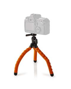 NEDIS GPOD3010BK Mini Tripod Max 1 kg 27.5 cm Flexible Black/Orange 233-0748
