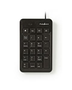 NEDIS KBNM100BK Wired Numeric Keypad USB Black 233-0782