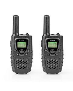 NEDIS WLTK0800BK Walkie-Talkie Range 8 km 8 Channels VOX 2 Pieces Black 233-0784