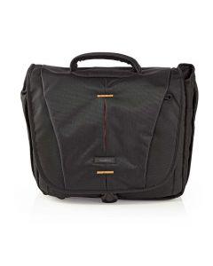 NEDIS CBAG230BK Camera Shoulder Bag 330 x 250 x 140 mm 3 Inside pockets Black/Or 233-0821