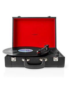 NEDIS TURN210BK Turntable 18 W Bluetooth Suitcase Black 233-1129