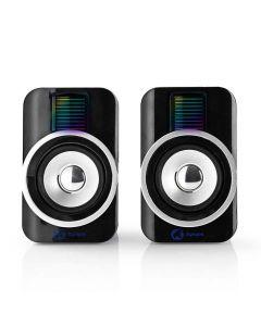 NEDIS GSPR20020BK Gaming Speakers 2.0 RGB USB powered 3.5mm jack 30 W 233-1527